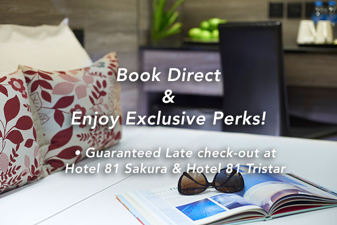 Enjoy guaranteed 2 hours late check-out at V Hotel.